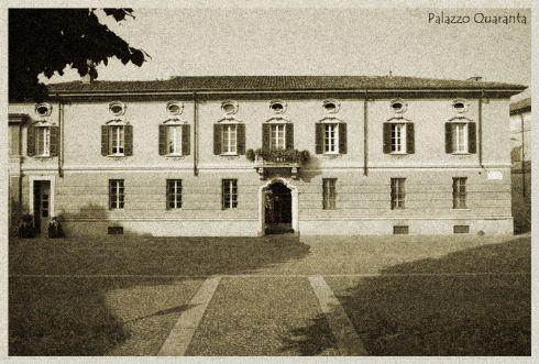 antica cartolina del Ristorante Palazzo Quaranta a Isola Dovareseantica cartolina del Ristorante Palazzo Quaranta a Isola Dovarese