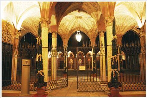 scorcio interno di Palazzo Trecchi sede de La Piccola Officina
