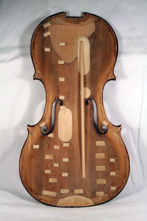 restauro completo di un violino barocco