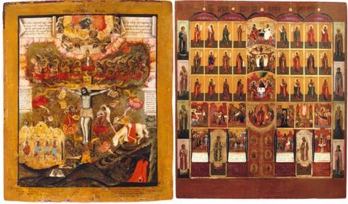 mostra di antiche icone russe