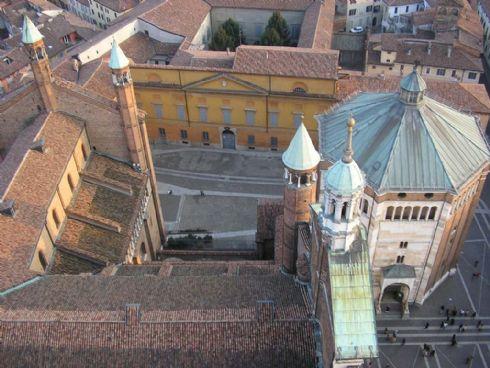 aerea del centro storico di Cremona
