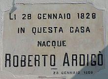 Casteldidone - lapide a Roberto Ardigò