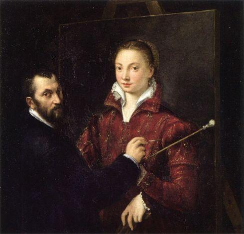 autoritratto con Bernardino Campi di Sofonisba Anguissola